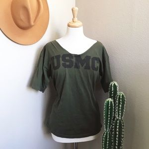 Distressed USMC t-shirt